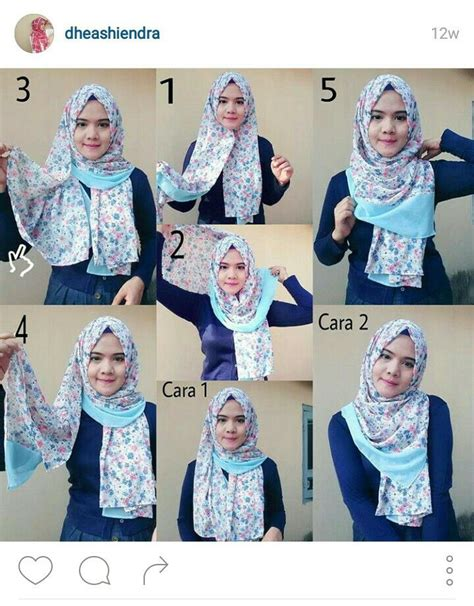 simple hijab pattern pointy hijab style is very hype in indonesia this
