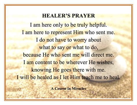 a healer s prayer a course in miracles