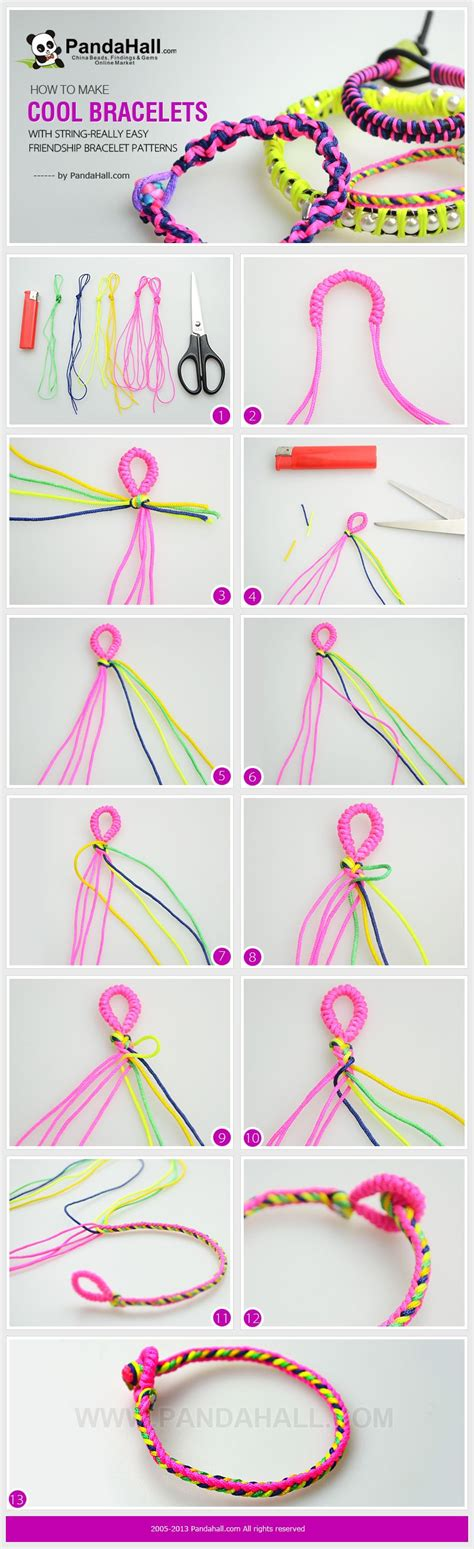 How Do You Make String - in today s how to make cool bracelets with string project
