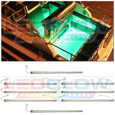 boat cabin lights led ledglow 8pc green led marine boat deck cabin lights kit lu