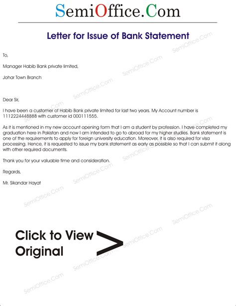 Error In Bank Statement Letter application letter for bank statement 28 images 7 sle