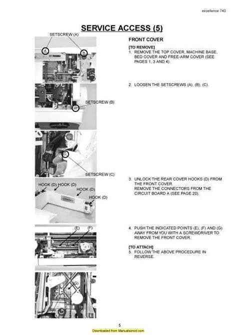 elna sewing machine parts diagram elna 740 excellence sewing machine service parts manual