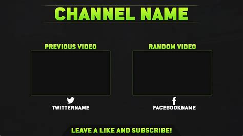 end card templates sony vegas free outro template v2 psd