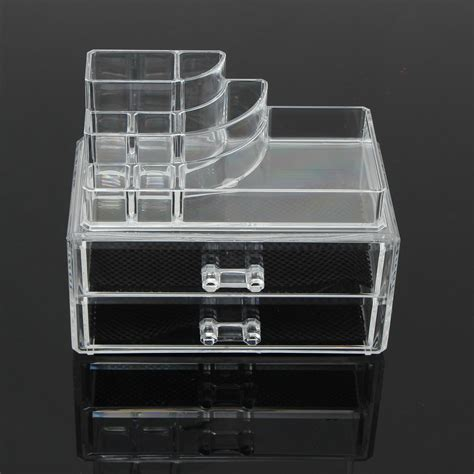 clear makeup organizer with drawers 2 drawer clear acrylic cosmetic organizer storage