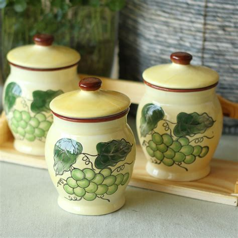 grape kitchen canisters 28 images handpainted grapes kitchen canister set 4 tuscan grape