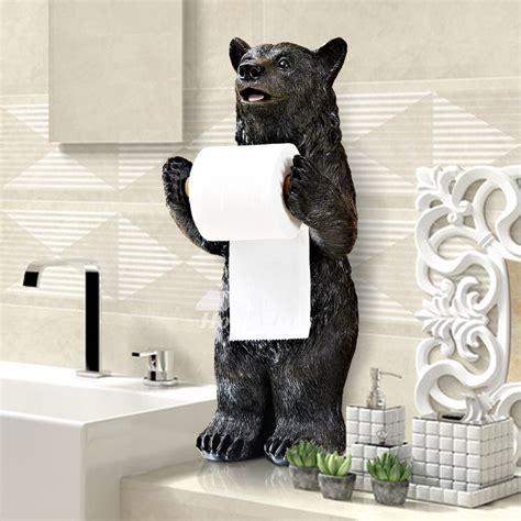 bear toilet paper holder funny black bear alligator free standing toilet paper holder