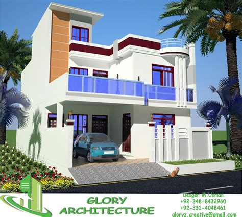3d front elevation com 60 x 100 wapda town 1 kanal 30x60 house plan elevation 3d view drawings pakistan