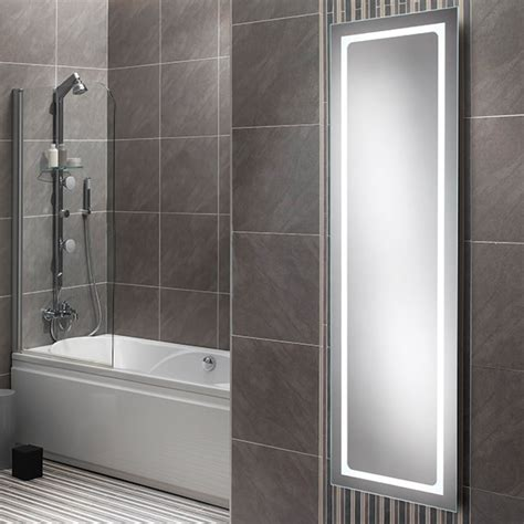 Tall Bathroom Mirror | hib alto led tall bathroom mirror 425 x 1400mm 77420000