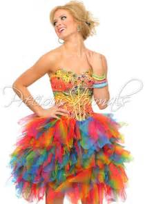 colorful dress rainbow prom dress dresses sleeve rainbow