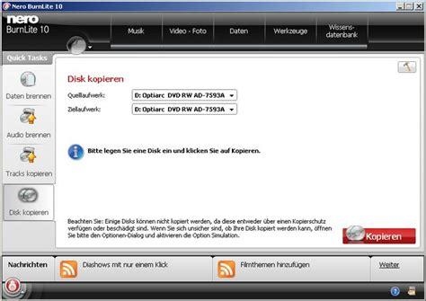 format zum dvd brennen nero burnlite download freeware de