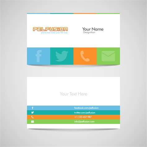 business card design template vector free sm vc free social media business card vector format