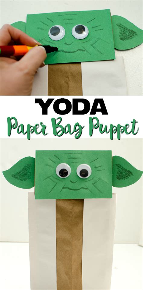 And Craft Paper Bags - yoda paper bag puppet a grande