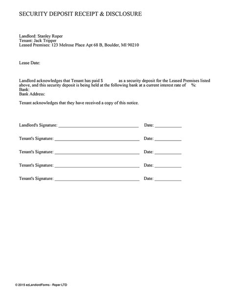 security deposit receipt chicago template 7 security deposit receipt form budget template letter