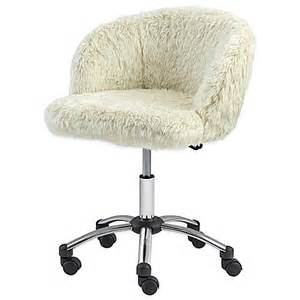 office fur task chair in light bed bath beyond