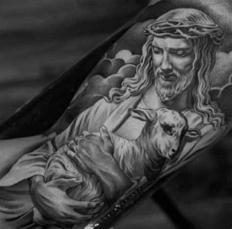 Jesus Lamb Tattoo | 60 3d jesus tattoo designs for men religious ink ideas