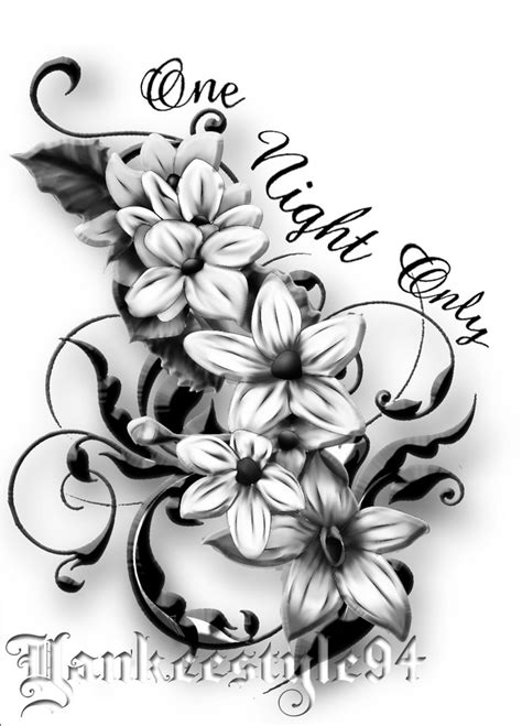tattoo font design jasmine flower by yankeestyle94 on deviantart
