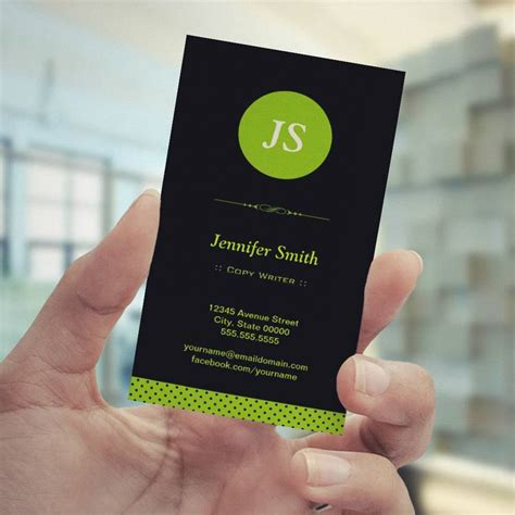 writer business card template copy writer stylish apple green pack of standard