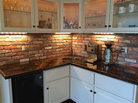 Brick Kitchen Backsplash by Reclaimed Thin Brick Veneer Thin Brick Veneer Brick