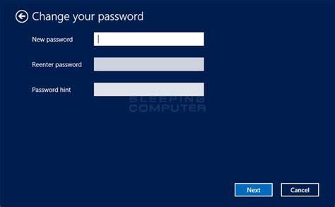 windows reset password windows 8 how to change your windows password