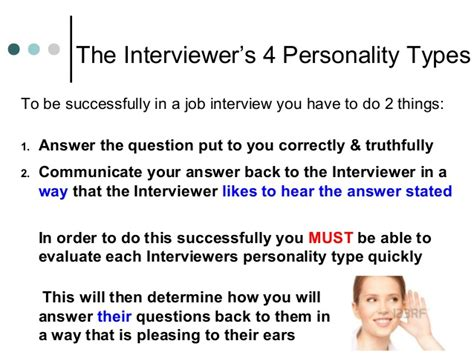personality questions for interviews knowing your interviewer s personality type answering