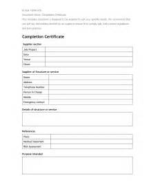work completion certificate template best photos of completion form template work