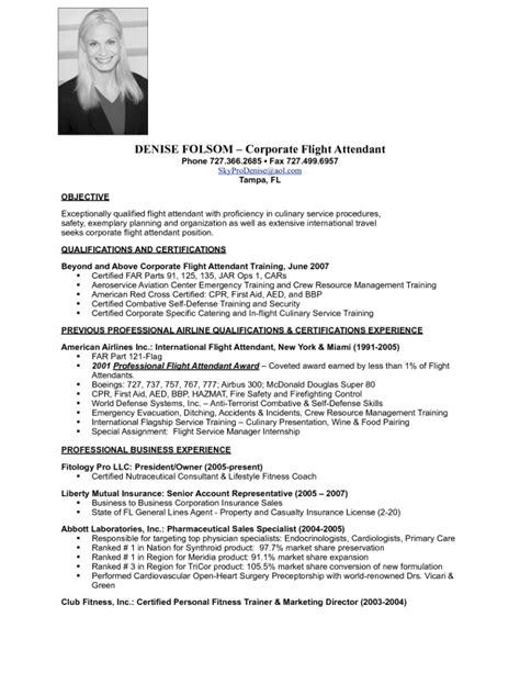 flight attendant description resume sles of resumes