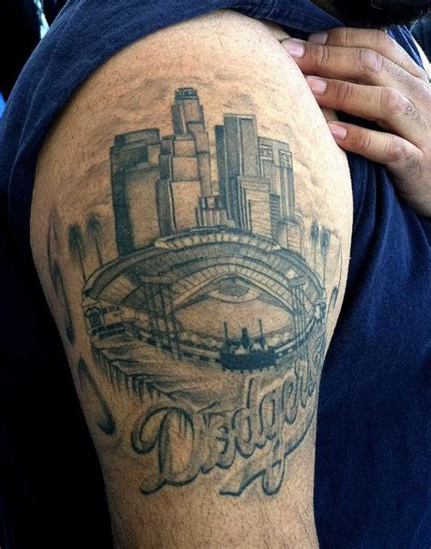 hard ink tattoo dodger stadium la dodgers tattoos