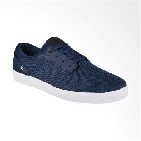 jual rip curl raglan denim sepatu sneaker pria blue
