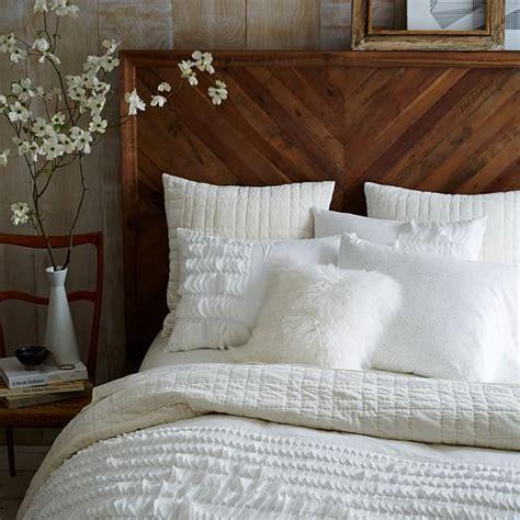 west elm bed skirt alexa reclaimed wood bed west elm