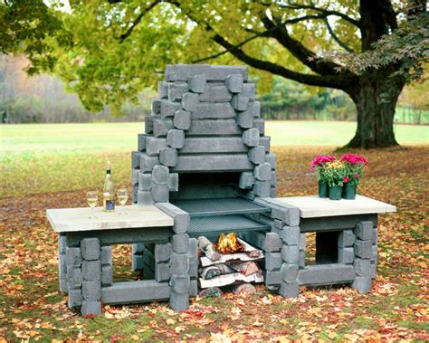 precast concrete outdoor fireplace kits outdoor fireplaces