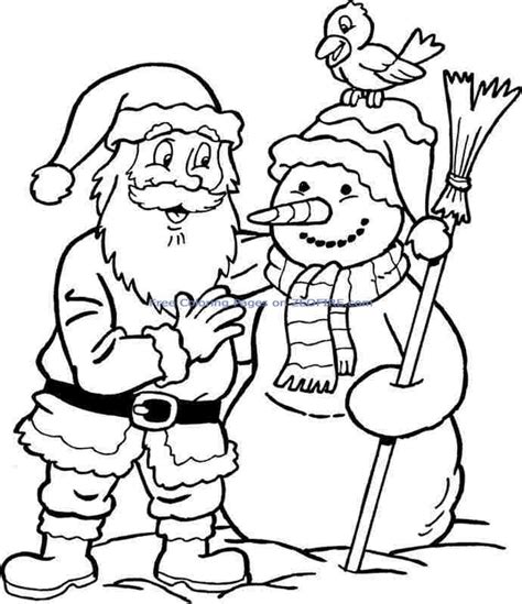 coloring pages websites free christmas santa claus