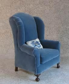 blue velvet wing chair flickr photo