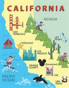 santiago california map california map