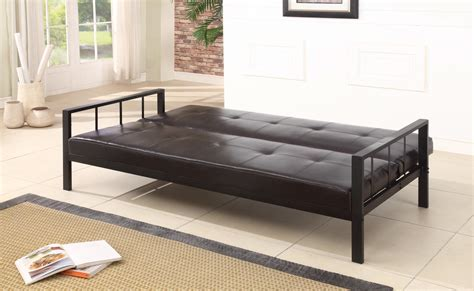 Heavy Duty Futon Bed by 6017 Series Brand Black Vinyl With Heavy Duty