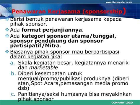 format proposal untuk sponsor penyusunan proposal