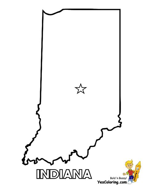 indiana coloring page indiana state map outline sketch coloring page