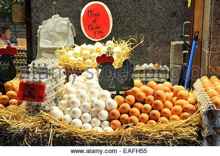 To Market Egg Accessories by Egg Stall At La Boqueria Market In Barcelona Spain Europe
