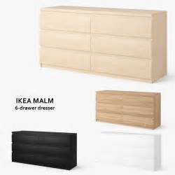 3ds max ikea malm 6 drawer dresser