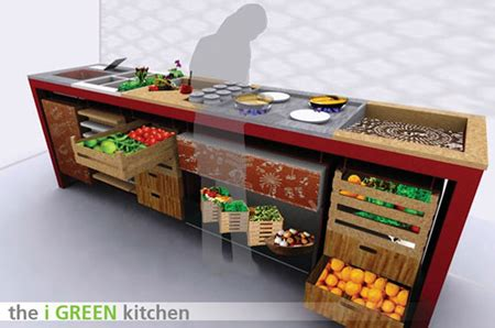 To Market Green Kitchen by Igreen Kitchen Concept No More Fridge Green Design