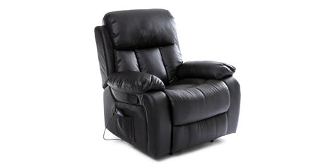 recliners with massage chester manual recliner chair with massage and heat in black