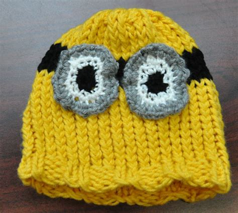knitting pattern minion despicable me hat minion hat knitting rays of hope