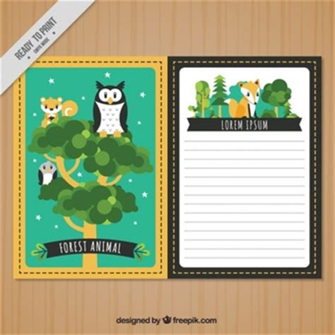 animal cards template clear animals vectors 12 200 free files in ai eps format