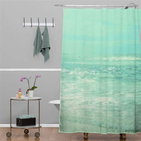 beach shower curtain lisa argyropoulos where ocean meets sky shower curtain