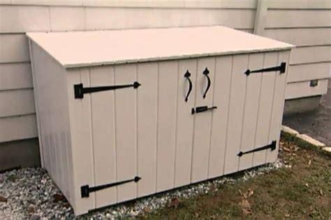 diy outdoor trash can cabinet diy outdoor trash can cabinet diy projects