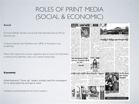 presentation slides template print media in myanmar
