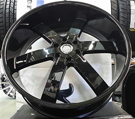 United Tires Oshaka 26 Inch Black 26 quot inch u2 55 wheels rims gloss black rims wheels set of