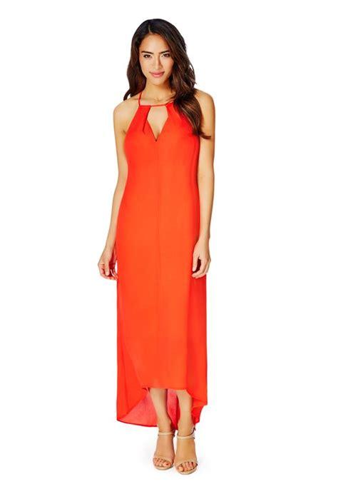 7430 Puspamaya Maxi front cutout maxi dress in coral get great deals at justfab