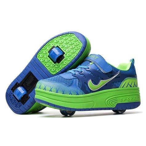 heelys enfants chaussures 224 roulettes gar 231 ons filles roue baskets bleu achat vente