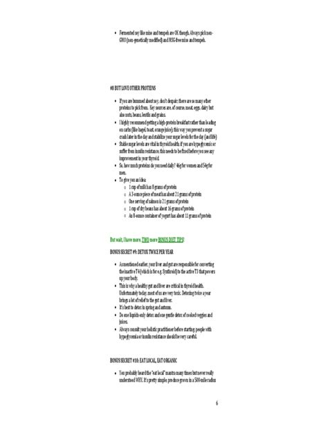 printable diet plan for hypothyroidism 8 thyroid diet secrets report free download
