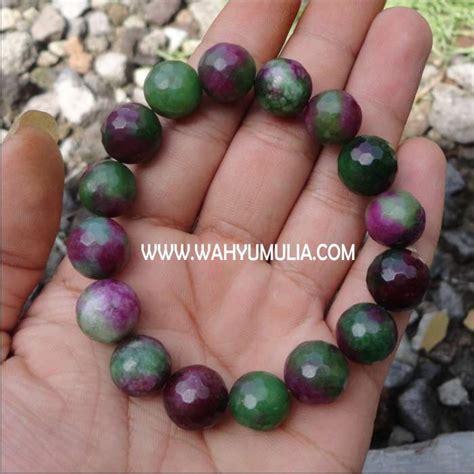 Gelang Batu Tanzania by Gelang Batu Rubi Ziosite Kode 149 Wahyu Mulia